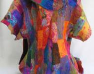 Silk and Wool Jacket with Scarf